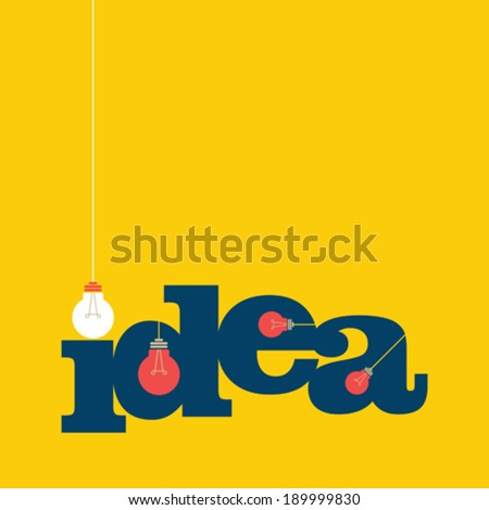 light bub the big idea concept - stock vector