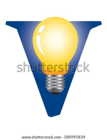 Light Bulb - stock vector