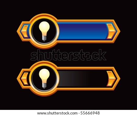 light bulb blue and black arrows