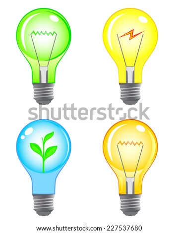 Light bulb color set