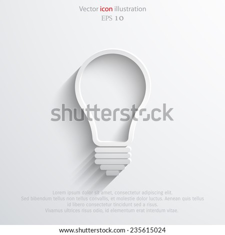 Light bulb flat webi con. Eps 10. - stock vector