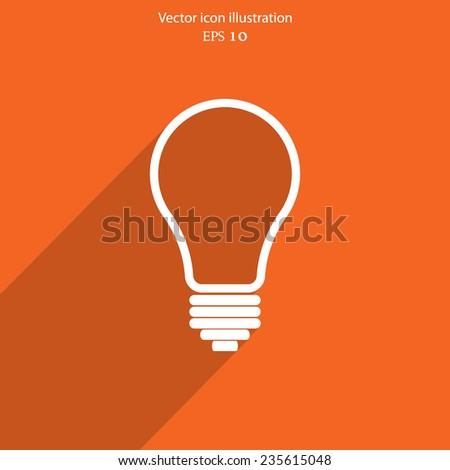 Light bulb flat webi con. Eps 10. - stock vector