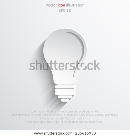 Light bulb flat webi con. Eps 10.