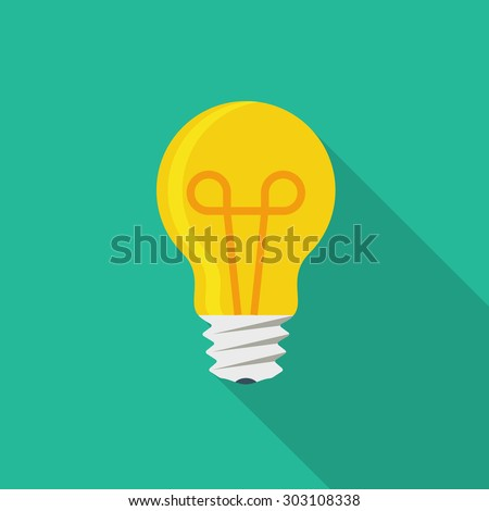 vector square blue icon lighting bulb. light bulb icon vector square blue lighting r