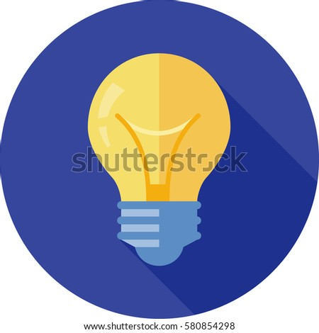 vector square blue icon lighting bulb. light bulb icon vector square blue lighting m