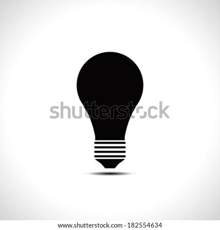 Light bulb icon. Idea concept. Vector illustration. - stock vector