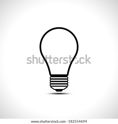 Light bulb icon. Idea concept. Vector illustration. - stock vector