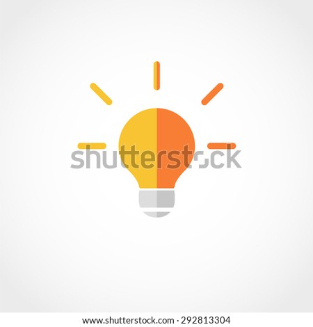 Light Bulb Icon Isolated on White Background - stock vector