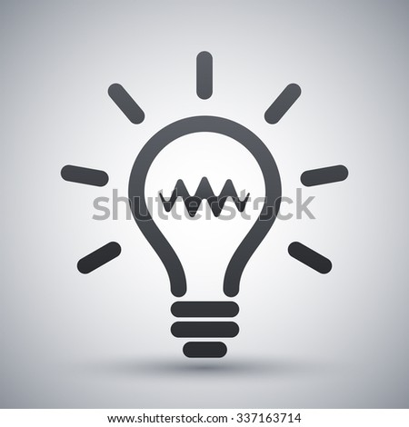 Light bulb icon, vector - stock vector
