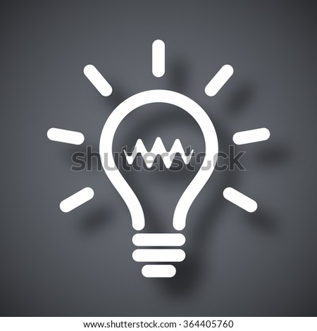 Light bulb icon, vector