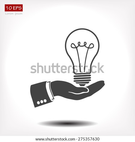 light bulb, icon. Vector  Eps 10 - stock vector