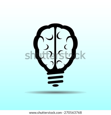 Light bulb icon, vector illustration. Flat design style. - stock vector