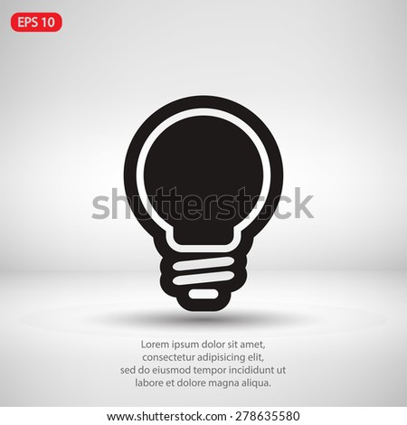 Light bulb  icon, vector illustration. Flat design style