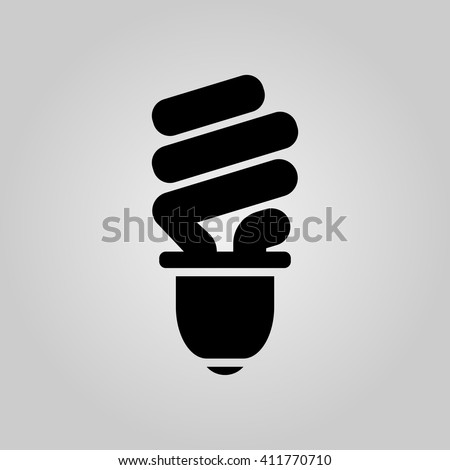 light bulb icon vector, solid illustration, pictogram isolated on gray - stock vector
