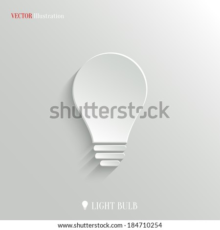 Light bulb icon - vector web illustration, easy paste to any background - stock vector