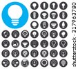 Light Bulb icons set. Illustration EPS10 - stock vector