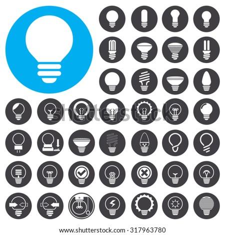 Light Bulb icons set. Illustration EPS10 - stock vector
