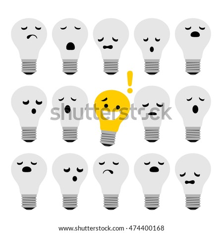Light bulb idea concept