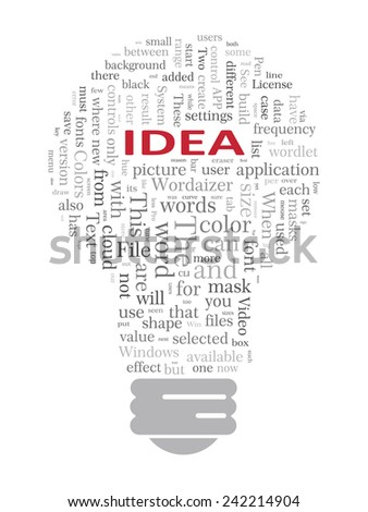 Light bulb idea concept template. EPS-10 - stock vector