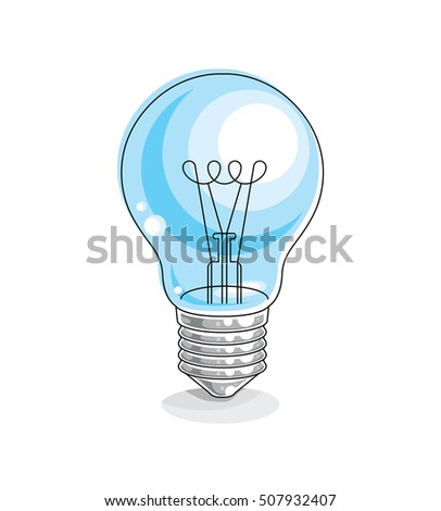 Light bulb idea concept vector illustration isolated on white background.