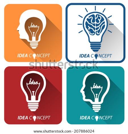 light bulb idea icon ,vector illustration - stock vector