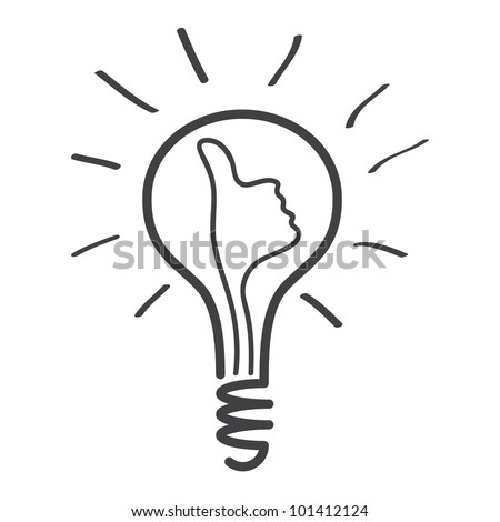 light bulb idea vector - stock vector