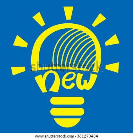 light bulb idea vector illustration - stock vector