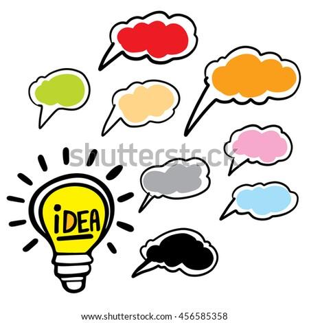 light bulb idea vector illustration. - stock vector