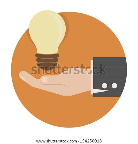 Light bulb in hand , eps10 vector format - stock vector