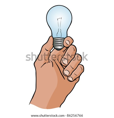 light bulb in the hand