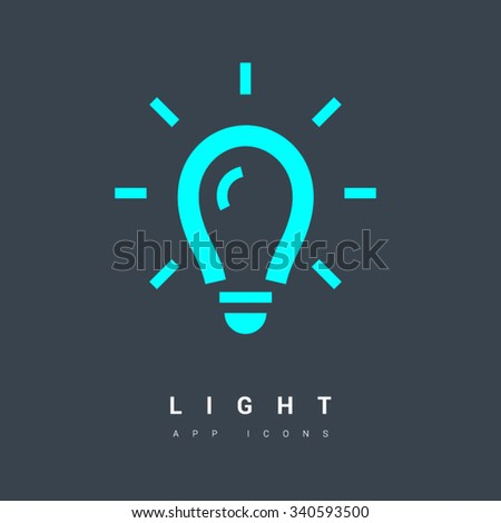 Light bulb isolated minimal single flat linear icon in colors. Line vector icon for websites and mobile minimalistic flat design. Modern trend concept design style illustration symbol - stock vector