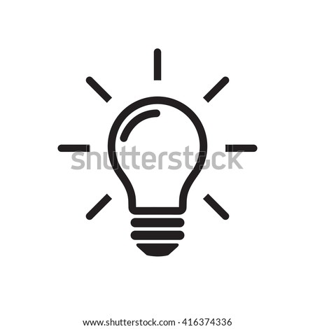 icon lighting. Contemporary Lighting Light Bulb Line Icon Vector Isolated On White Background Idea Sign  Solution Inside Icon Lighting 7