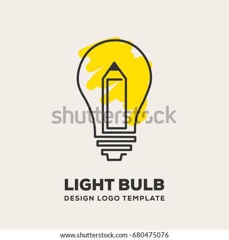 Superior Light Bulb Logo Design Template Eps. 10
