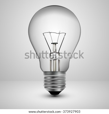 Light bulb on a gray background, vector illustration.