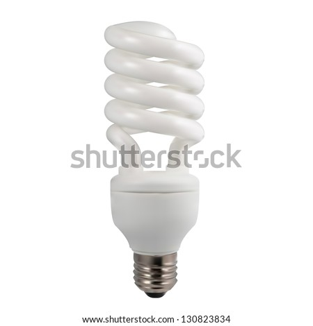 light bulb on white background - stock vector