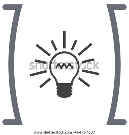 Light bulb sign vector icon. Lamp icon. Idea and solution sign. Innovation and creativity symbol.