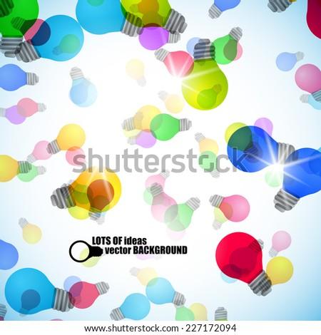 Light bulb vector background - stock vector