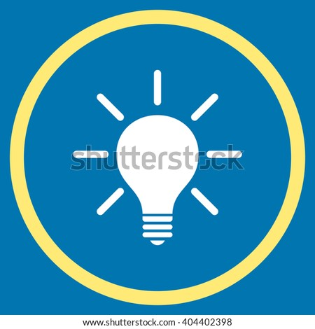 vector square blue icon lighting bulb. light bulb vector bicolor icon image style is a flat symbol inside circle square blue lighting
