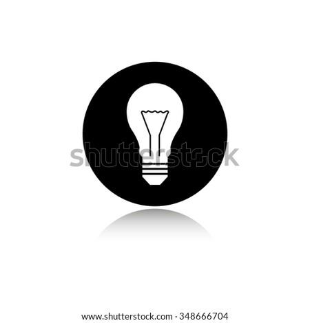 Light bulb - vector icon - stock vector