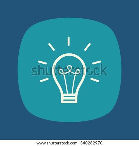 Light bulb vector icon, logo template, idea concept. - stock vector