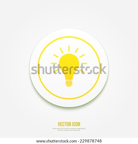 Light bulb vector idea icon - stock vector