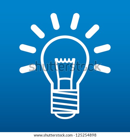Light bulb, vector illustration - stock vector