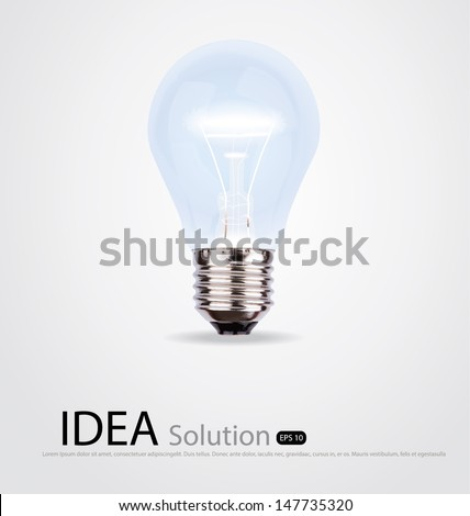Light bulb  , Vector illustration