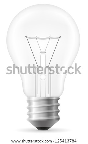 light bulb vector illustration isolated on white background