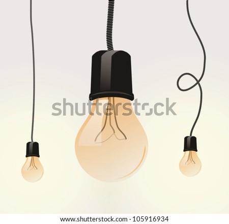 Light bulb. Vector set - stock vector