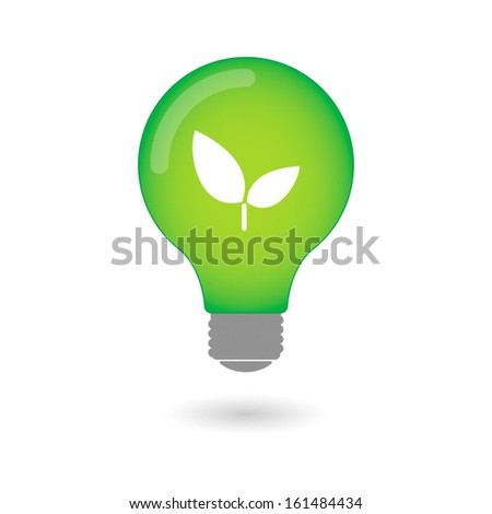 Light bulb with an icon