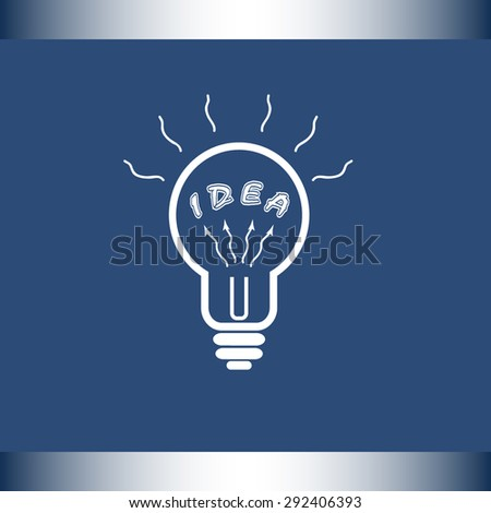 Light bulb with concept of idea sign icon, vector illustration. Flat design style
