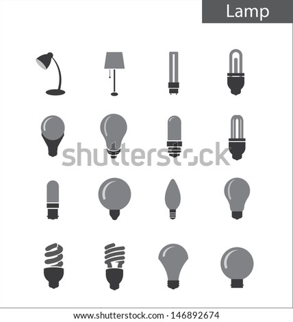 Light bulbs - stock vector