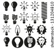 Light bulbs. Bulb icon set - stock vector