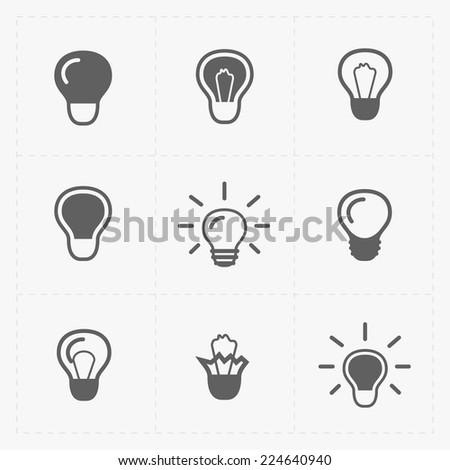 Light bulbs. Bulb icon set. - stock vector